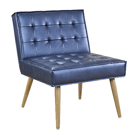 Ave Six Amity Chair Tufted Accent Sizzle Azuresilver