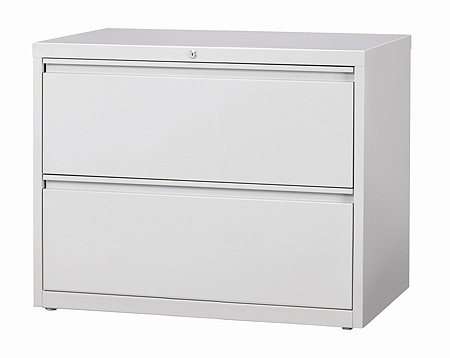 Workpro 36 W 2 Drawer Steel Lateral File Cabinet Light Gray By Office Depot Officemax