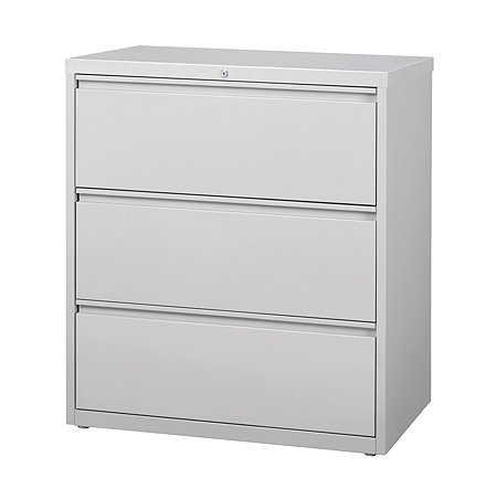 Workpro 36 W 3 Drawer Letter Legal Size Metal Lateral File Cabinet Light Gray Item 369443