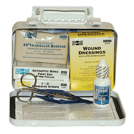 10 PERSON STEEL WEATHERPROOF FIRST AID KIT W/E