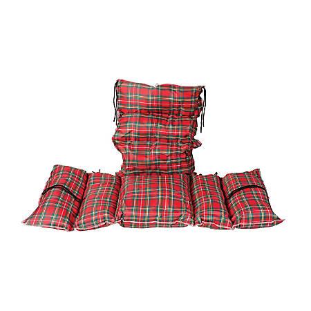 """DMI® Comfort Pillow Cushion, 16"""" x 16"""", Plaid"""