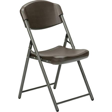 SKILCRAFT Folding Chair, Espresso Brown