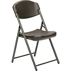 SKILCRAFT Folding Chair Espresso Brown