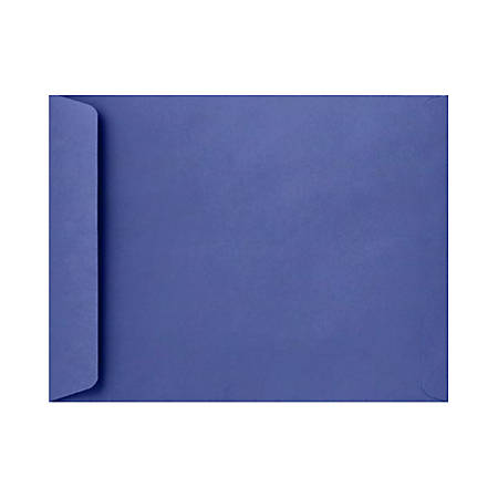 """LUX Open-End Envelopes With Peel & Press Closure, 10"""" x 13"""", Boardwalk Blue, Pack Of 50"""