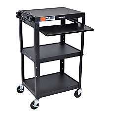 HWilson Adjustable Steel AudioVisual Presentation Cart
