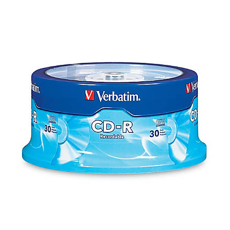 Verbatim CD-R 700MB 52X with Branded Surface - 30pk Spindle - 700MB - 30 Pack