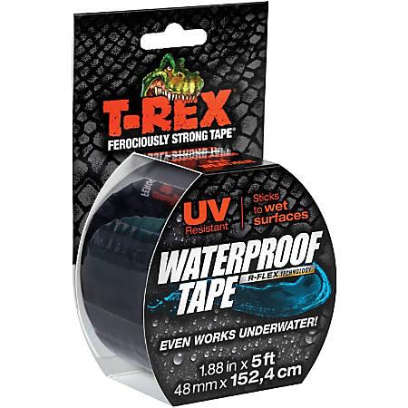 "T-REX Waterproof Tape - 2"" Width x 5 ft Length - Long Lasting, Durable - 1 Each - Black"