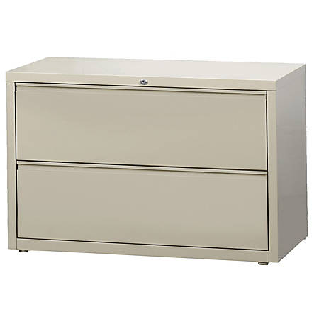 """WorkPro® 42""""W 2-Drawer Steel Lateral File Cabinet, Putty"""