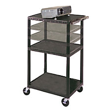H Wilson Height Adjustable Plastic Cart