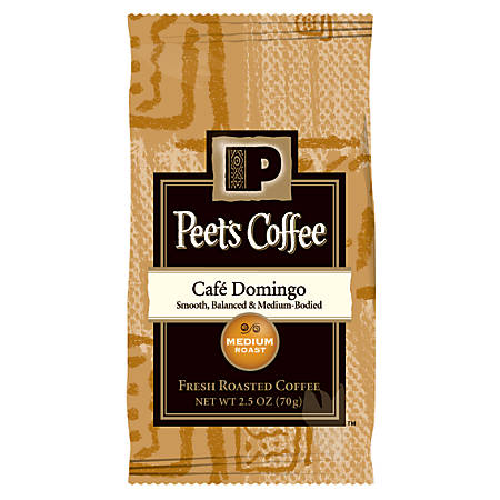 Peet's Coffee And Tea Portion Packs, Cafe Domingo Coffee, 2.5 Oz, Pack Of 18