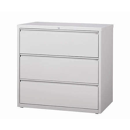 Workpro 42 W 3 Drawer Metal Lateral File Cabinet Light