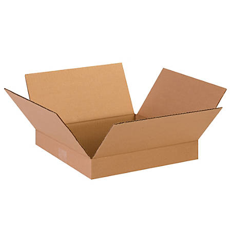 """Office Depot® Brand Corrugated Boxes, Flat, 2""""H x 13""""W x 13""""D, Kraft, Pack Of 25"""