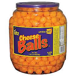 Utz Cheese Balls Snack Barrel 23