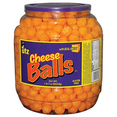 Utz® Cheese Balls Snack Barrel, 23 Oz Tub