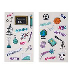 Divoga Sticker Sheets School Subjects Assorted