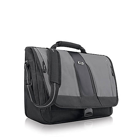 Solo® Supreme Messenger Bag, Black/Gray