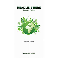 Custom Vertical Banner Green World