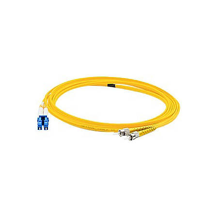 AddOn 1m FC (Male) to LC (Male) Yellow OS1 Duplex Fiber OFNR (Riser-Rated) Patch Cable