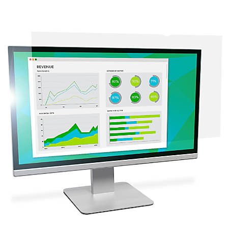 """3M™ Anti-Glare Screen Filter for Monitors, 22"""" Widescreen (16:10), Reduces Blue Light, AG220W1B"""