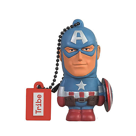 Tribe Marvel USB 2.0 Flash Drive, 16GB, Captain America, FD016501