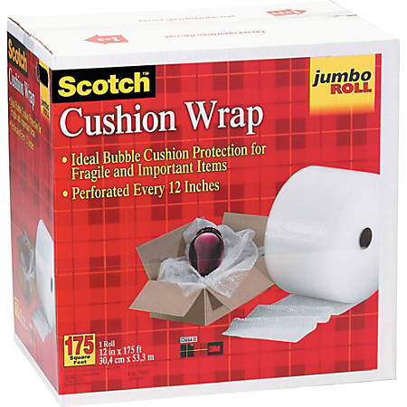 "Scotch® Cushion Wrap, 12"" x 175' Perforated Roll"