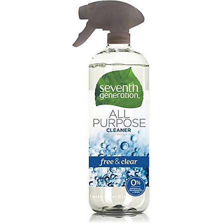 Seventh Generation Free & Clear All Purpose Cleaner - Spray - 0.18 gal (23 fl oz) - 8 / Carton - Clear