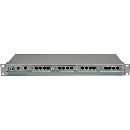 Omnitron Systems iConverter T1/E1 MUX/M - Twisted Pair, Optical Fiber - Gigabit Ethernet - 1 Gbit/s - 1 x RJ-45