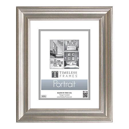 Timeless Frames Lauren Portrait Frame 11 x 14 8 x 10 Mat Silver by ...