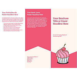 Customizable Trifold Brochure Cherry Cupcake