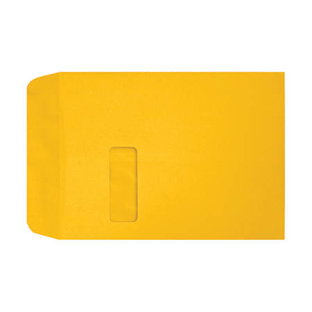 """LUX Open-End Window Envelopes With Peel & Press Closure, #9 1/2, 9"""" x 12"""", Sunflower, Pack Of 50"""