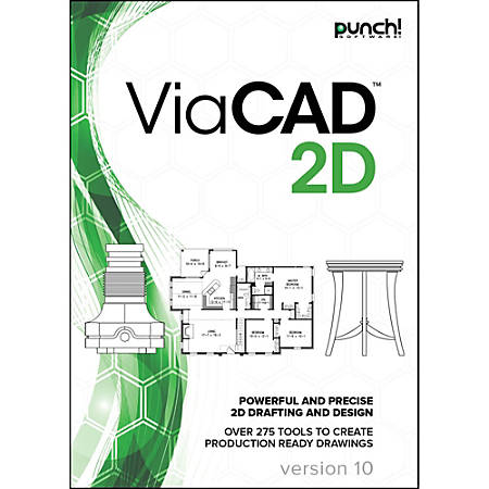 Punch! ViaCAD 2D v10 for Windows PC