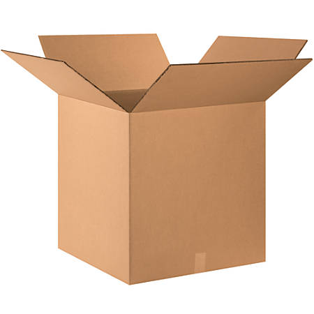 """Office Depot® Heavy-Duty Double Wall Corrugated Boxes, 24"""" x 24"""" x 24"""", Kraft, Pack Of 10 Boxes"""