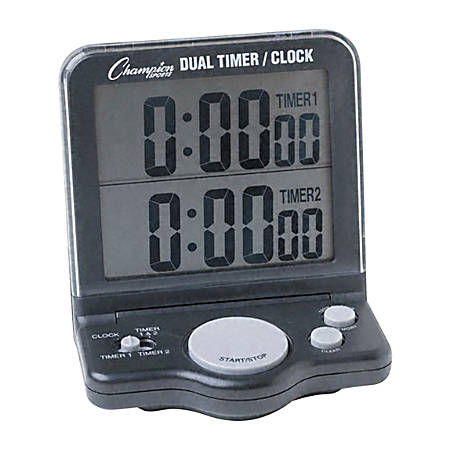 Champion Sport Dual-Display Timer, Black