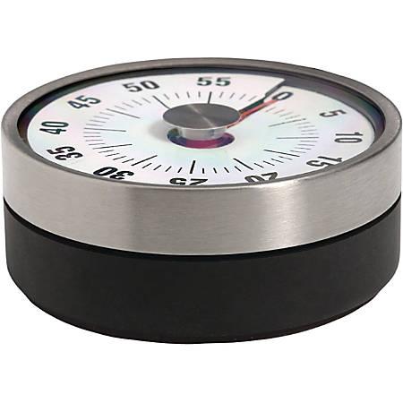 Taylor 5874 Mechanical Indicator Timer - 1 Hour - For Kitchen - Black