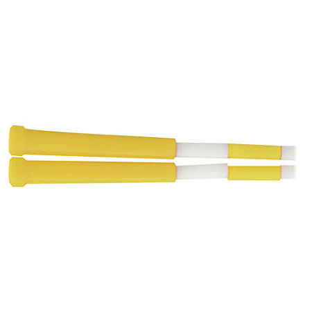 "Champion Sport s Plastic Segmented Jump Rope - 96"" Length - Yellow, White - Plastic"