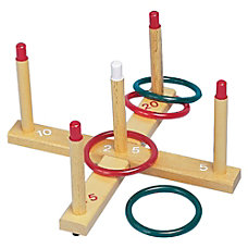 Champion Sports Wooden Target Ring Toss