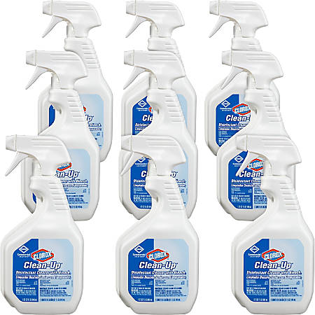 Clorox® Clean-Up® Disinfectant Cleaner With Bleach, 32 Oz., Case Of 9