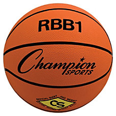 Champion Sports Pro Rubber Basketball Orange