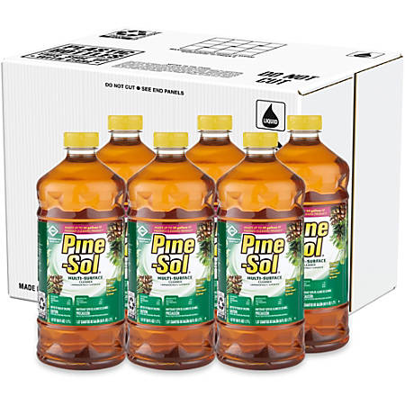Pine-Sol Multi-Surface Cleaner - Liquid - 0.47 gal (60 fl oz) - Pine Scent - 6 / Carton - Amber
