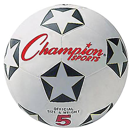 Champion Sport s Size 5 Soccer Ball - Size 5 - White, Black, Red - 1 Each