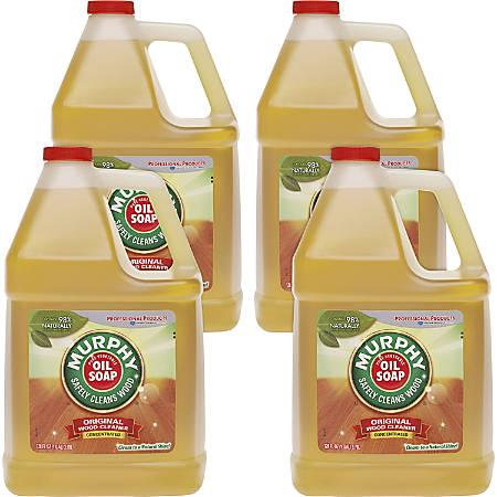 Murphy 128oz Oil Soap Wood Clnr - Liquid - 1 gal (128 fl oz) - Fresh ScentBottle - 4 / Carton - Gold