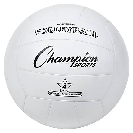 Champion Sports Official Size Volleyball - Official - Nylon, Rubber - White - 1  Each