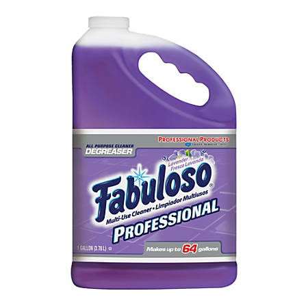Fabuloso® All-Purpose Cleaner, Lavender Scent, 1 Gallon, Case Of 4 Bottles