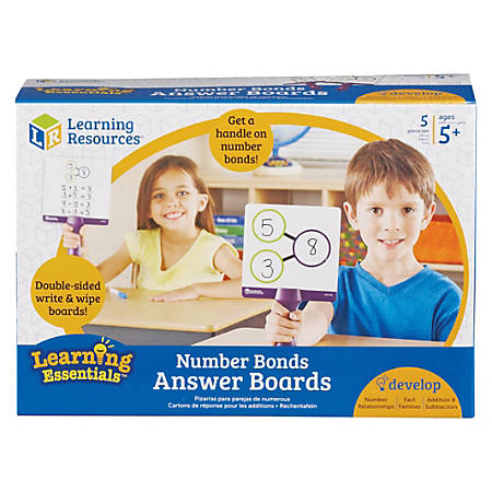 Learning Resources Two-sided Handheld Boards - Portable - 5 / Set