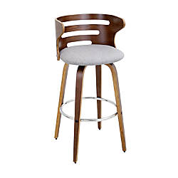 Lumisource Cosini Bar Stool WalnutGrayWood
