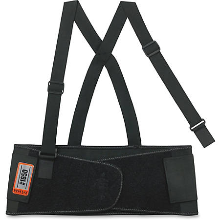 "ProFlex Economy Elastic Back Support - Adjustable, Strechable, Comfortable - 30"" Adjustment - Strap Mount - 7.5"" - Black"