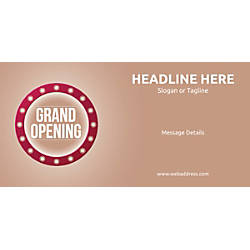 Custom Horizontal Banner Retro Grand Opening