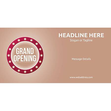 Custom Horizontal Banner, Retro Grand Opening