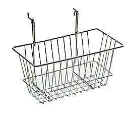 Azar Displays Chrome Wire Baskets 6 14 H x 12 W x 6 D