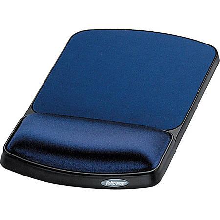 Fellowes® Gel Wrist Rest/Mouse Pad, Sapphire